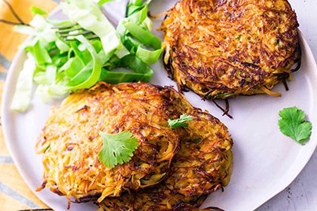 Recette Galettes de pommes terre et carottes au cumin coriandre