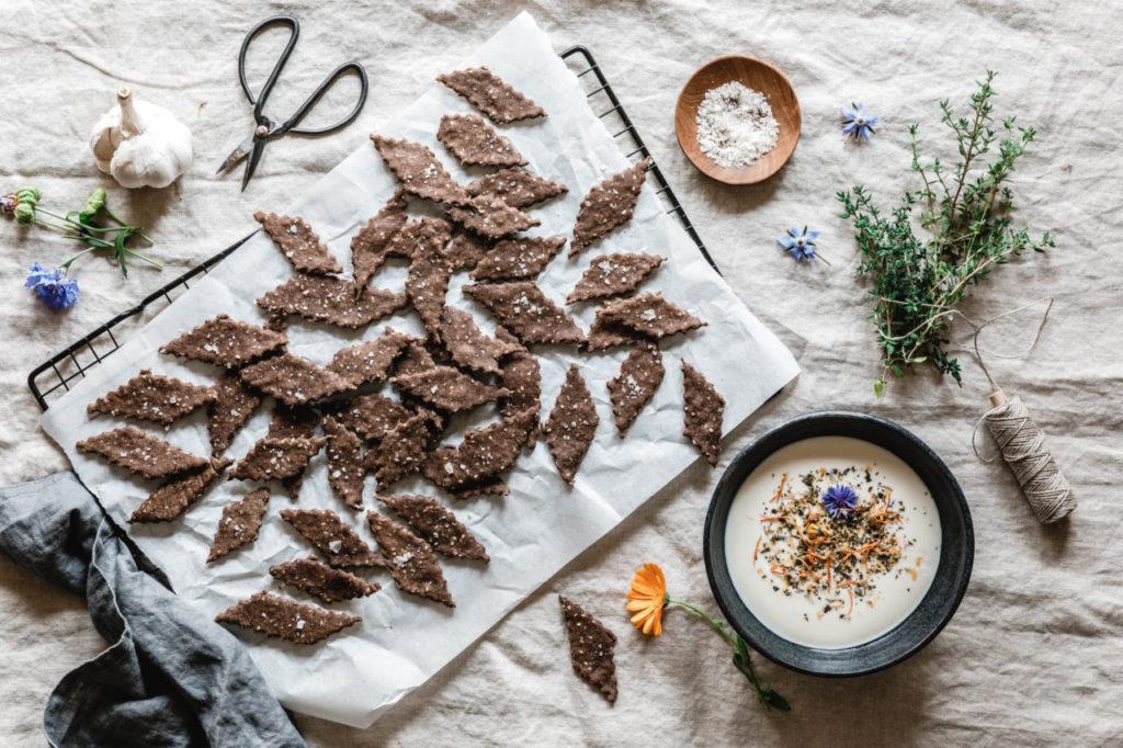 Crackers au champignons Bio