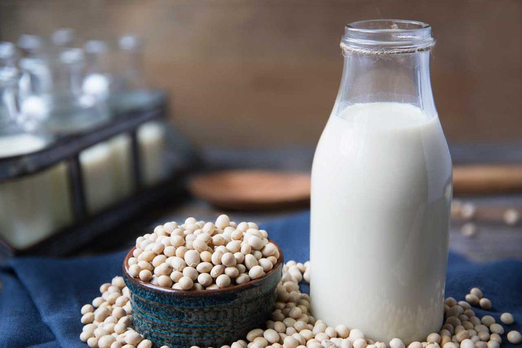 Lait de soja à l'extrateur de jus