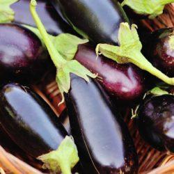 panier d'aubergines