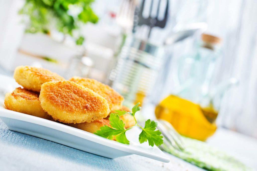 Assiette de nuggets au poulet