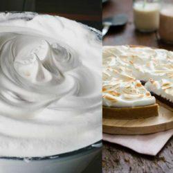 Tarte et meringue